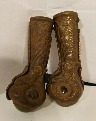 Set Of 2 Antique Claw Foot Ball Furniture Feet Vc102