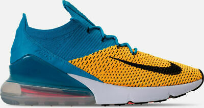 finest selection 12ee3 16ed3 Nike Air Max 270 Flyknit Running Shoes Orange Blue Sz 10.5 AO1023 800 NEW  2018