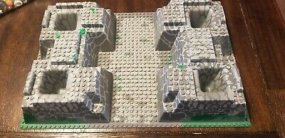 Lego 30271 Castle Grey Green Stone Raised 3d Base Plate Building