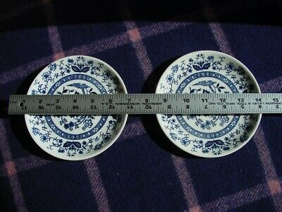 VTG 2 Blue Onion with Inner Band Plate Japan 6 inches VG Used Condition