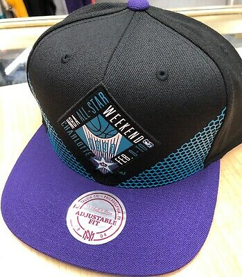 promo code 2d4fb a6333 Mitchell   Ness NBA 1991 All-Star Game Biz Snapback Cap Hat Black Purple