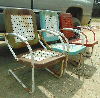 Swell Vintage Metal Basket Weave Outdoor Chairs 200 00 Picclick Alphanode Cool Chair Designs And Ideas Alphanodeonline