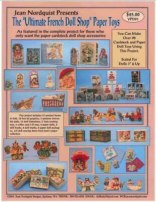 Jean Nordquist's Ultimate French Doll Shop Paper Toys Only - No Shop Plans, etc.