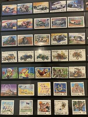 Over 100 Australian Stamps All Different Used Collection Lot Off Paper