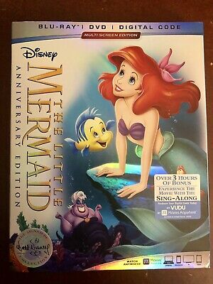 The Little Mermaid (Bluray + DVD) w/slipcover