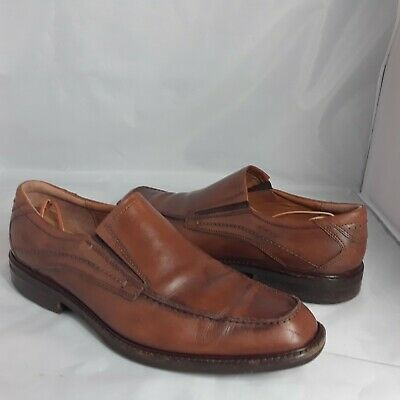 aa499d6596ce Ecco Mens 45 Brown Leather Slip On Dress Casual Driving Moc Loafers Shoes  Wide