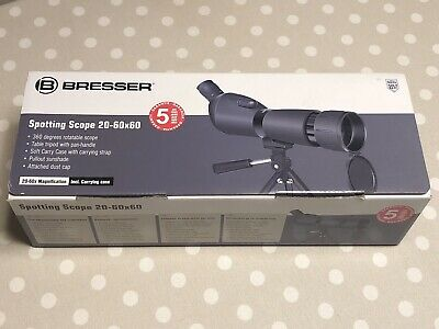 Bresser Spotting Scope 20-60x60, Incl. Table Tripod & Carrying Case