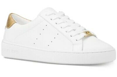 80517b62d4f New Michael Kors Irving Lace Up Sneaker optic white upper leather perforated