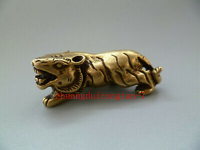 China's archaize brass tiger Small statue