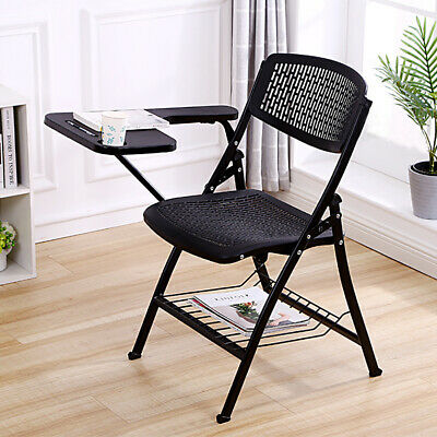 Folding Lecture Chair with Table Top for Classroom Lecture Training Confererence