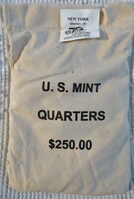 New York 2001-D $250 Face Value Mint Sewn 50 State Quarters Bag