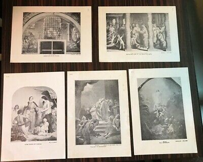 Collection of 30 Religious Black and White Small Prints by various artists USED