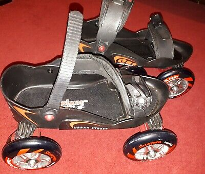 Skorpion Quadline adjustable roller skates, Large (approx 6-11 UK size), Exc Con