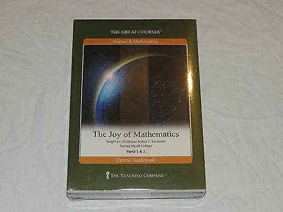 Brand New- The Great Courses - The Joy Of Mathematics Parts 1 & 2 Book And Dvd's