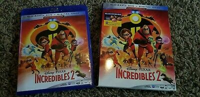 Incredibles 2 (Blu-ray/DVD, 2018, 3-Disc Set) -- No Digital Copy Like New!!
