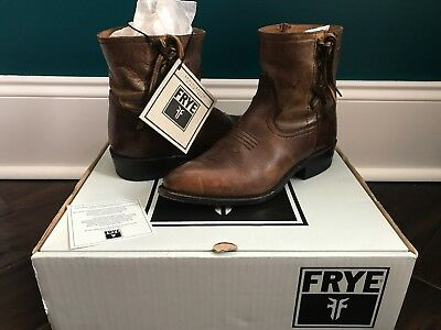FRYE Billy Cross Stitch Tan Leather Western Boots Ladies 7.5
