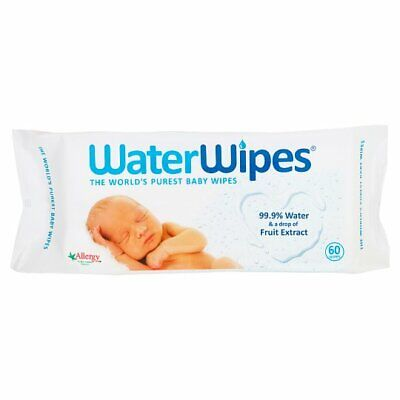 Waterwipes Sensitive Baby Wipes 60Pk contain 99.9% water for sensitive skin