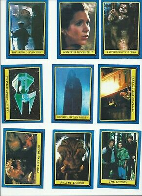 RETURN OF THE JEDI vintage Trading Card Set SERIES 2 x 20 1983