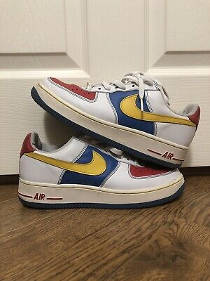 2004 NIKE AIR Force 1 Low Remix Da Kickz Size 7.5 White Blue