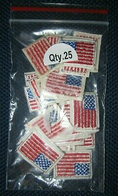 37e4bac6c6b LOT 25 Embroidery American USA Flag Stars Stripes Applique Iron On Patch Sew