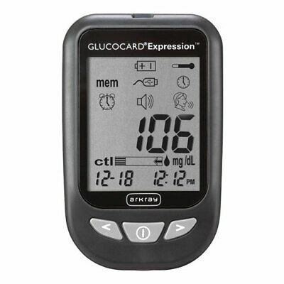 NEW ARKRAY 704Mzf1 1 EA Glucocard Expression Blood Glucose Meter Kit 571100