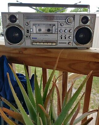Vintage Sanyo Model M-7900K Boombox Ghetto Blaster (Fully-Intact CLEAN WORKING )