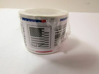 NEW! Roll of 100 / US Flag - 100 NEW USPS Forever Stamps