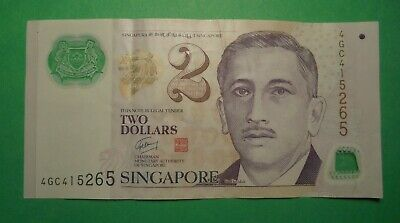 Polymer $2 Note From Singapore.