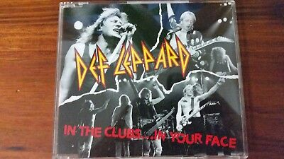 """Def Leppard """"in The Clubs...in Your Face"""" Japan Rare Cd"""