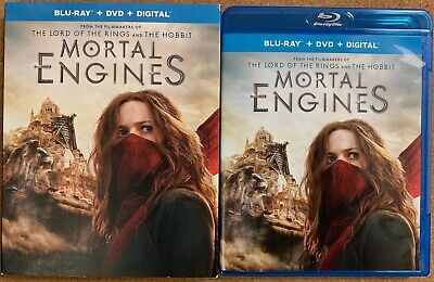 Mortal Engines Blu Ray Dvd 2 Disc Set + Slipcover Sleeve Free World Wide Shiping