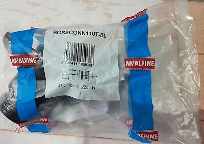 McAlpine BossConn 110/82 Black Soil Pipe Connector
