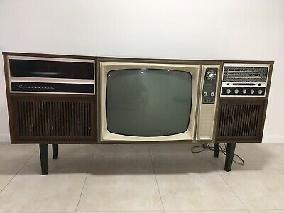 Vintage Retro Antique Astor TV And Record Player With Cabinet