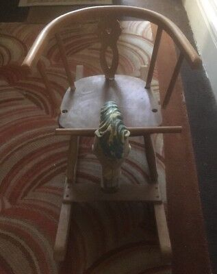 For Repair - Vintage Children's Wooden Rocking-Horse, Probably From 1970s