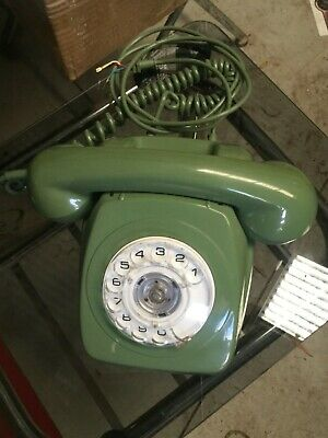 VINTAGE GREEN 802 1970s DIAL PHONE
