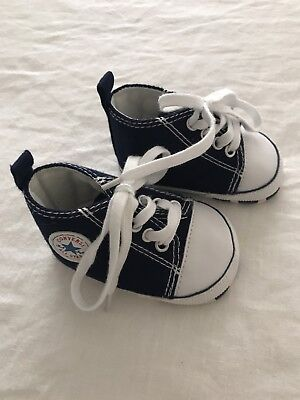 Baby Girls Boys Unisex Navy Blue Converse 1
