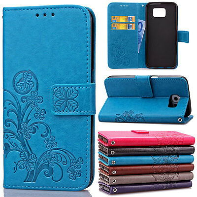 Leather Magnet Flip Stand Cover For Samsung Galaxy S6 S7 Edge Wallet Card Case