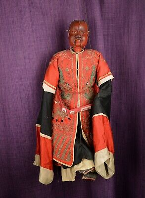 A Fine & Rare Meiji Period Large Japanese Puppet With Dragon Robes