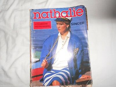 Nathalie 3 Singer knitting machine pattern book