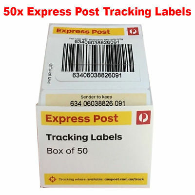 50 of Australia Post Express Post Tracking labels For Domestic Parcel
