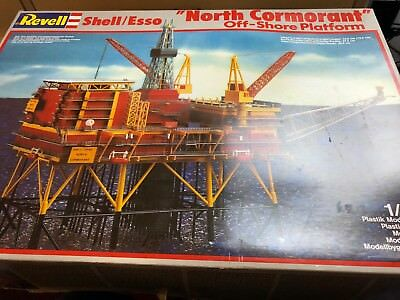 revell 1/200 8803 shell esso north cormoant off shore model kit complete unused