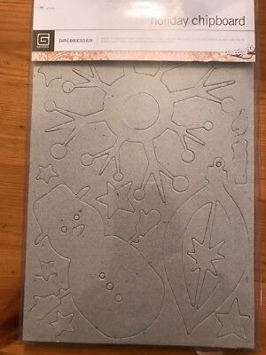 BasicGrey Holiday Chipboard, Undressed, 54 pieces, unused