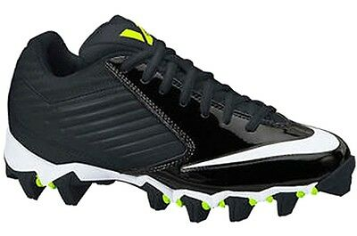 b52093476bb1 NEW YOUTH Nike VAPOR SHARK GS LOW TD sz 3.5Y BLACK WHITE Lacrosse Football  Cleat