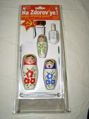 """DCI Russian Doll """"Na Zdorov'ye!"""" Vodka Drinking Game New in Package"""