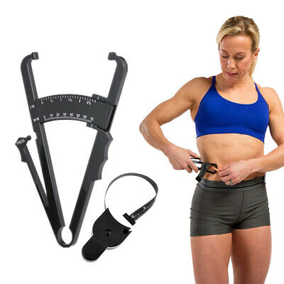 1 Set Body Fat Caliper Measuring Tape Tester Skinfold Fitness Weight Loss