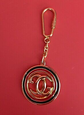 a947ca4f576 GUCCI Key Chain Keychain Gold Red Green DoubleGG Logo NWOT TimelessLuxury!