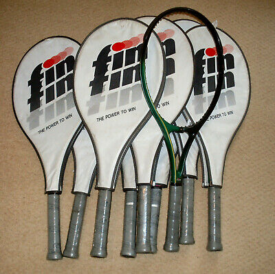 Fin Genius Rackets, 9 off, mid size, head covers, brand new, vintage 1980s