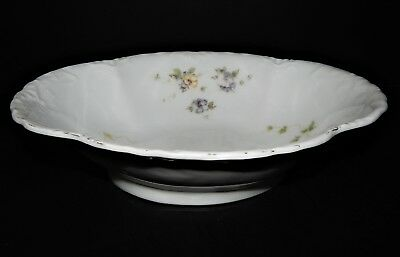 Herman Ohmne Silesia Germany China Oval Serving Bowl Floral Pattern pre 1920
