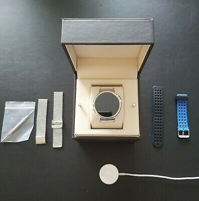 Huawei Watch (Gen 1) Stainless Steel with original box and 2 watchbands.