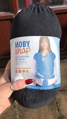 moby baby wrap sling (black)