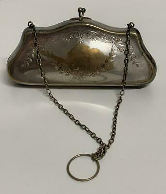 ** Antique ** Silver Plated Evening Purse
